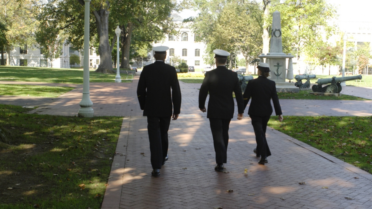 Naval Academy students in Annapolis