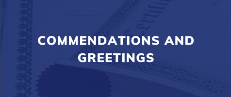 Commendations and Greetings